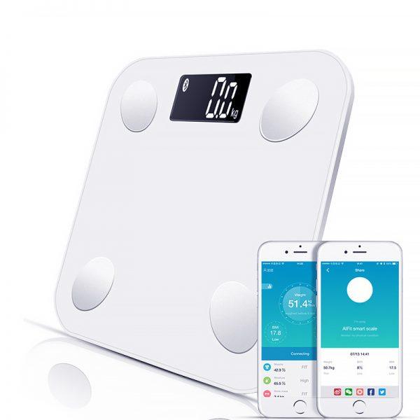 Bluetooth-balances-plancher-poids-corporel-balance-de-salle-de-bain-Smart-r-tro-clair-affichage